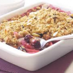 Blackberry, Apple And Honey Crumble
