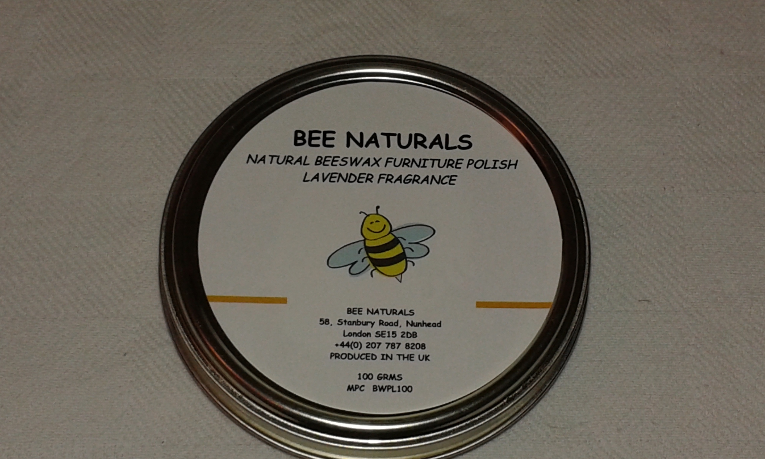 100% NATURAL Premium HANDMADE BEESWAX Furniture POLISH With Lavender.