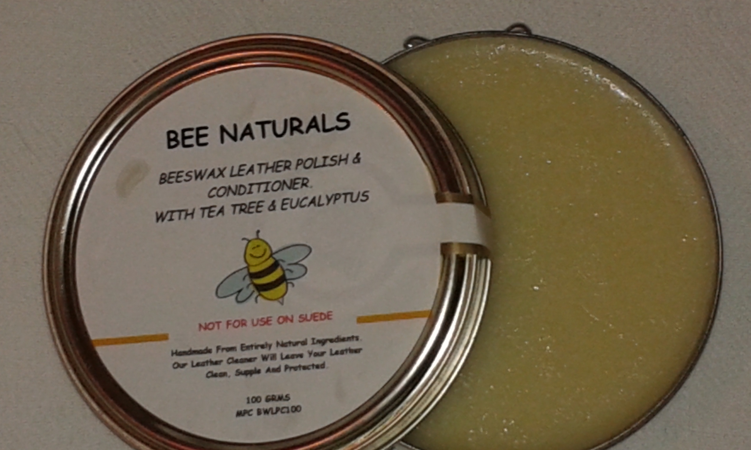 Handmade Natural Beeswax Leather Polish And Conditioner.