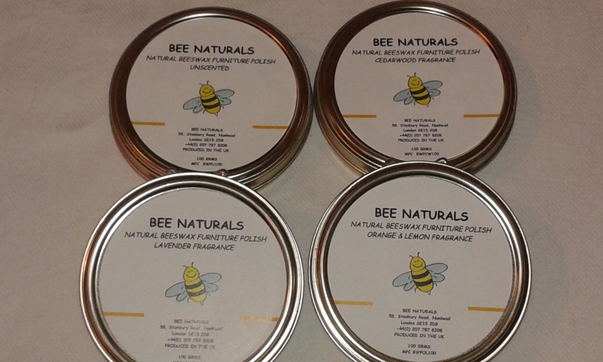 Handmade Beeswax Furniture Polish 100% Natural