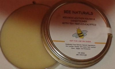 Natural Beeswax Leather Polish & Conditioner.